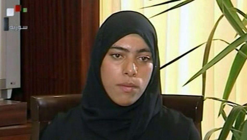 """Sainab al-Hosni im syrischen Steat-TV: """"Blume Syriens"""""""