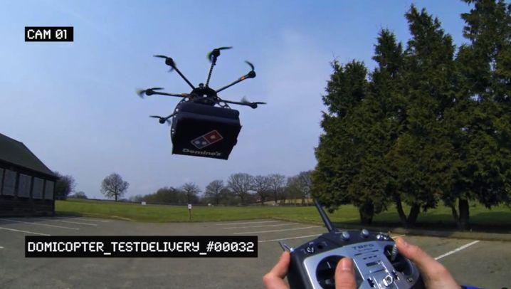 Testflug: Pizzalieferung aus der Luft
