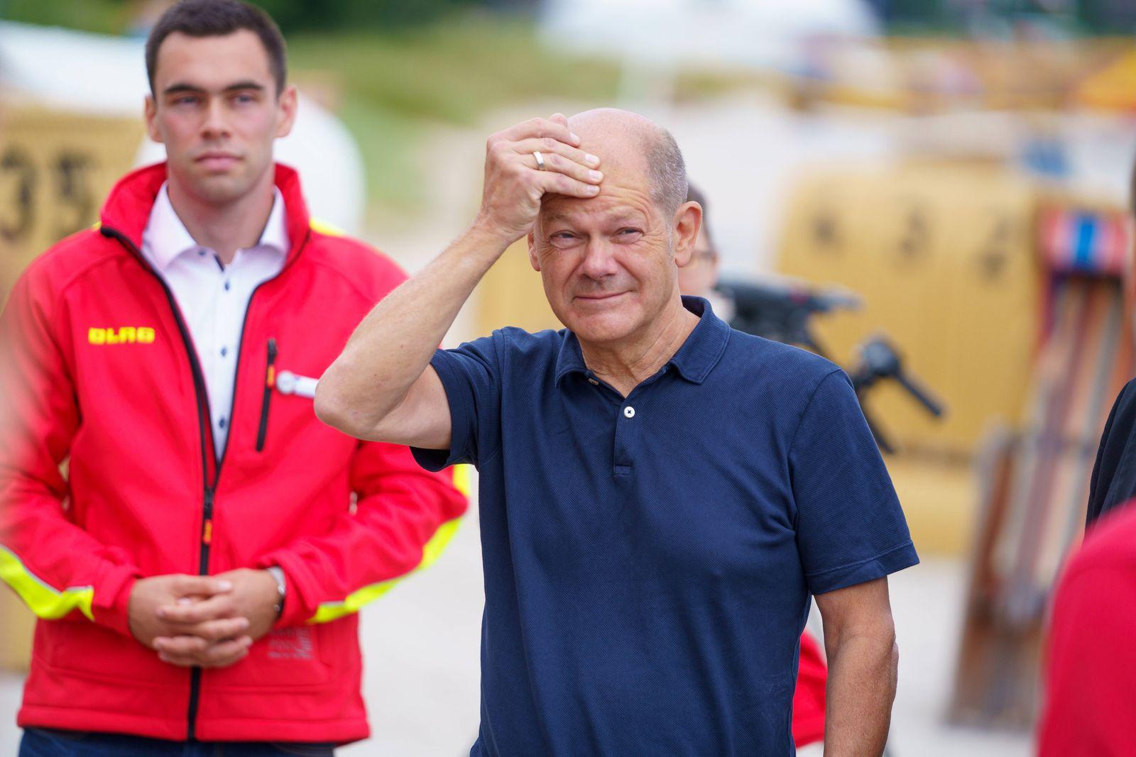 Wahlkampfveranstaltung der SPD zur Bundestagswahl 2021 - Olaf Scholz auf Wahlkampftour durch Schleswig-Holstein - Besuch