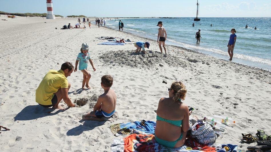 Urlaub am Strand von Helgoland