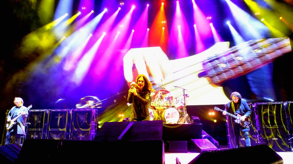 Geezer Butler, Ozzy Osbourne und Tony Iommi im Jahr 2016 (Archivbild)