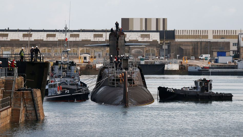 Werft der Naval Group in Cherbourg-Octeville
