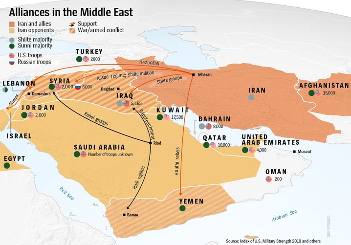 Graphic: A web of influence in the Middle East