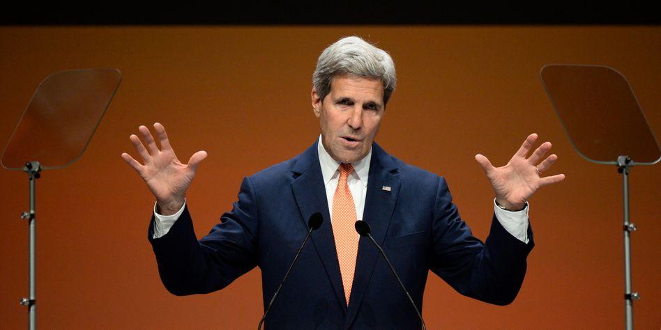 """US-Außenminister Kerry: """"Ich würde nichts ausschließen, was konstruktiv für den Irak ist"""""""