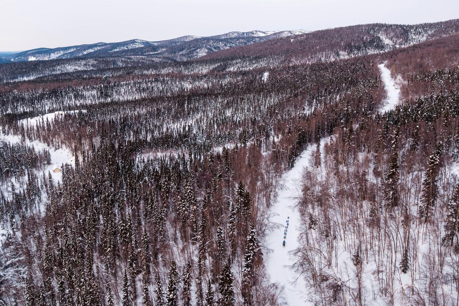 2020 Iditarod, Iditarod 2020, Takotna, Tom Frode Johansen, aerial, aerial photo, aerial photography, aerial photos, aerials, iditarod