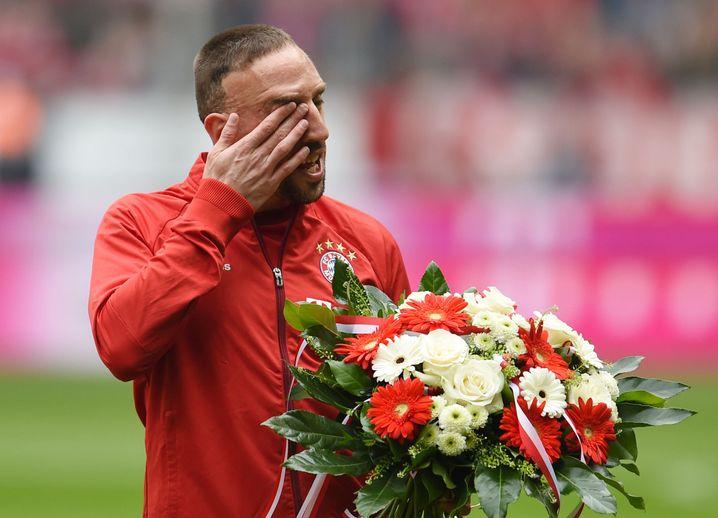 Jubiläumsblumen für Ribéry