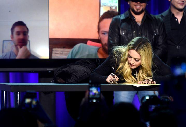 Große Geste: Madonna bei der Vorstellung des Streamingdienstes Tidal