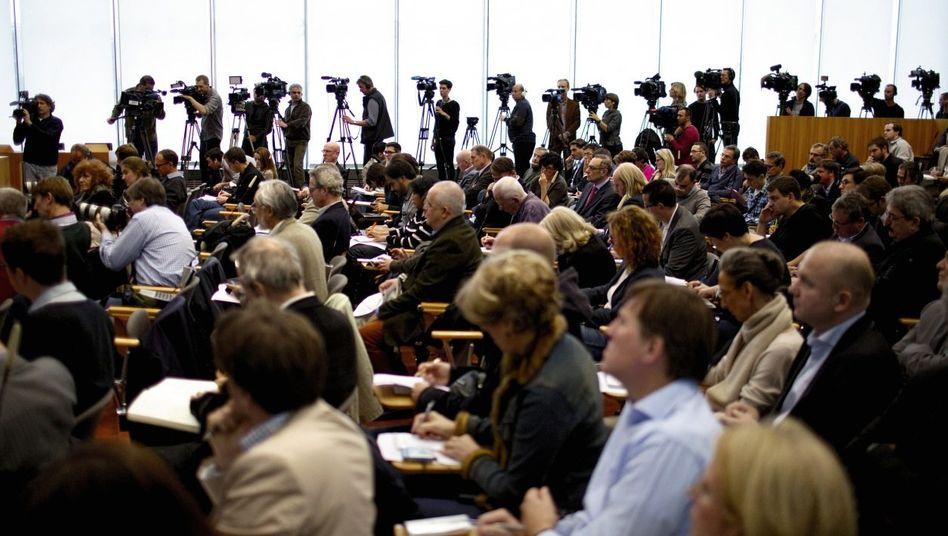 Pressekonferenz zur NSA-Affäre in Berlin