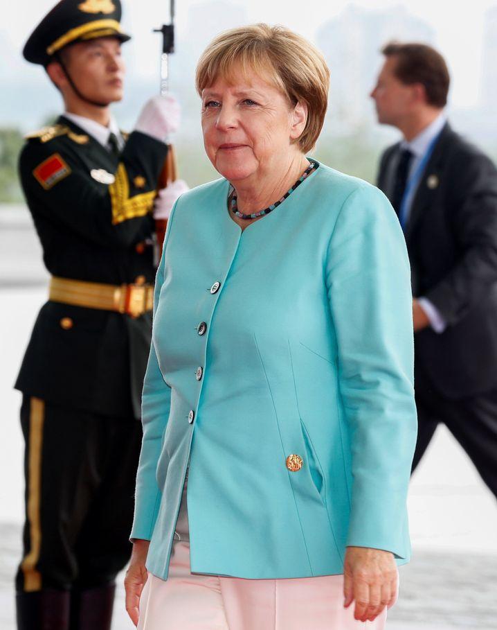 Kanzlerin Merkel, zurzeit beim G-20-Gipfel in China