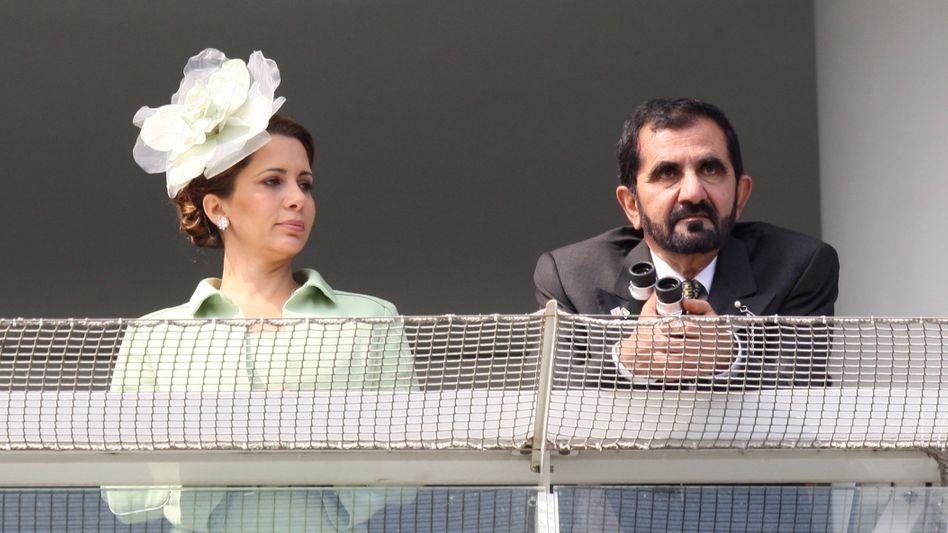 Scheich Mohammed bin Raschid al-Maktum, Emir von Dubai und Ministerpräsident der Vereinigten Arabischen Emirate, und seine Ex-Frau Prinzessin Haja Bint al-Hussein 2011