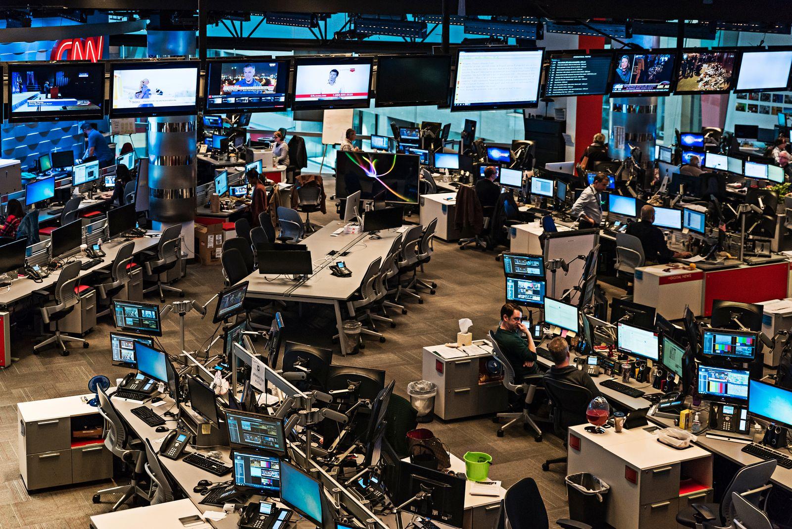 Newsroom at CNN World Headquarters