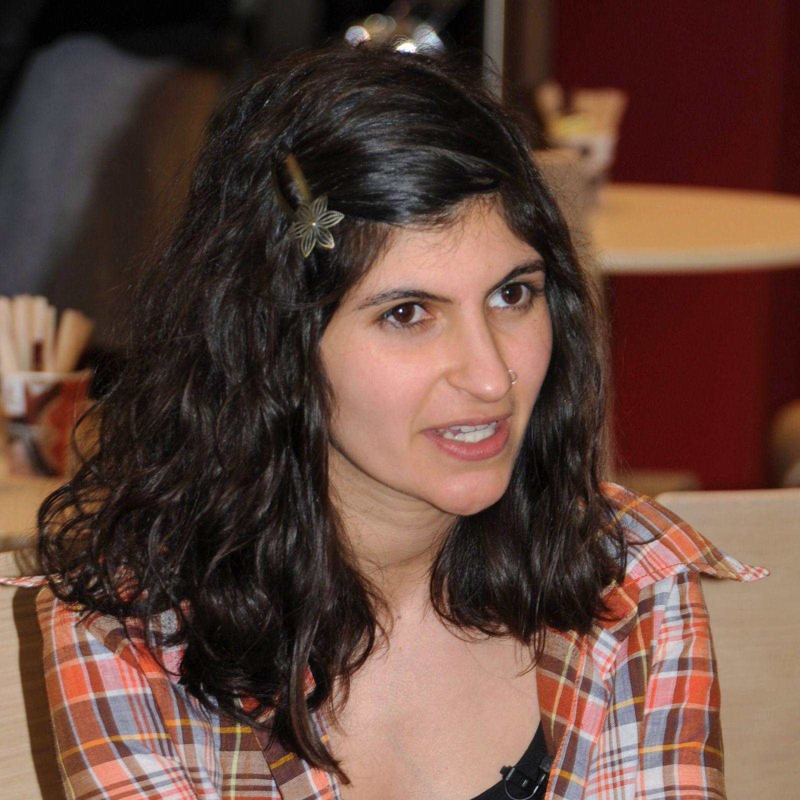Shida Bazyar auf der Buchmesse in Leipzig