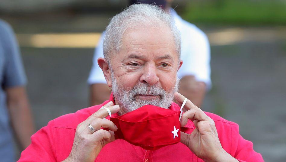 Rotes Tuch für Bolsonaro: Ex-Präsident Lula bei der Kommunalwahl in seinem Heimatort São Bernardo do Campo im November 2020
