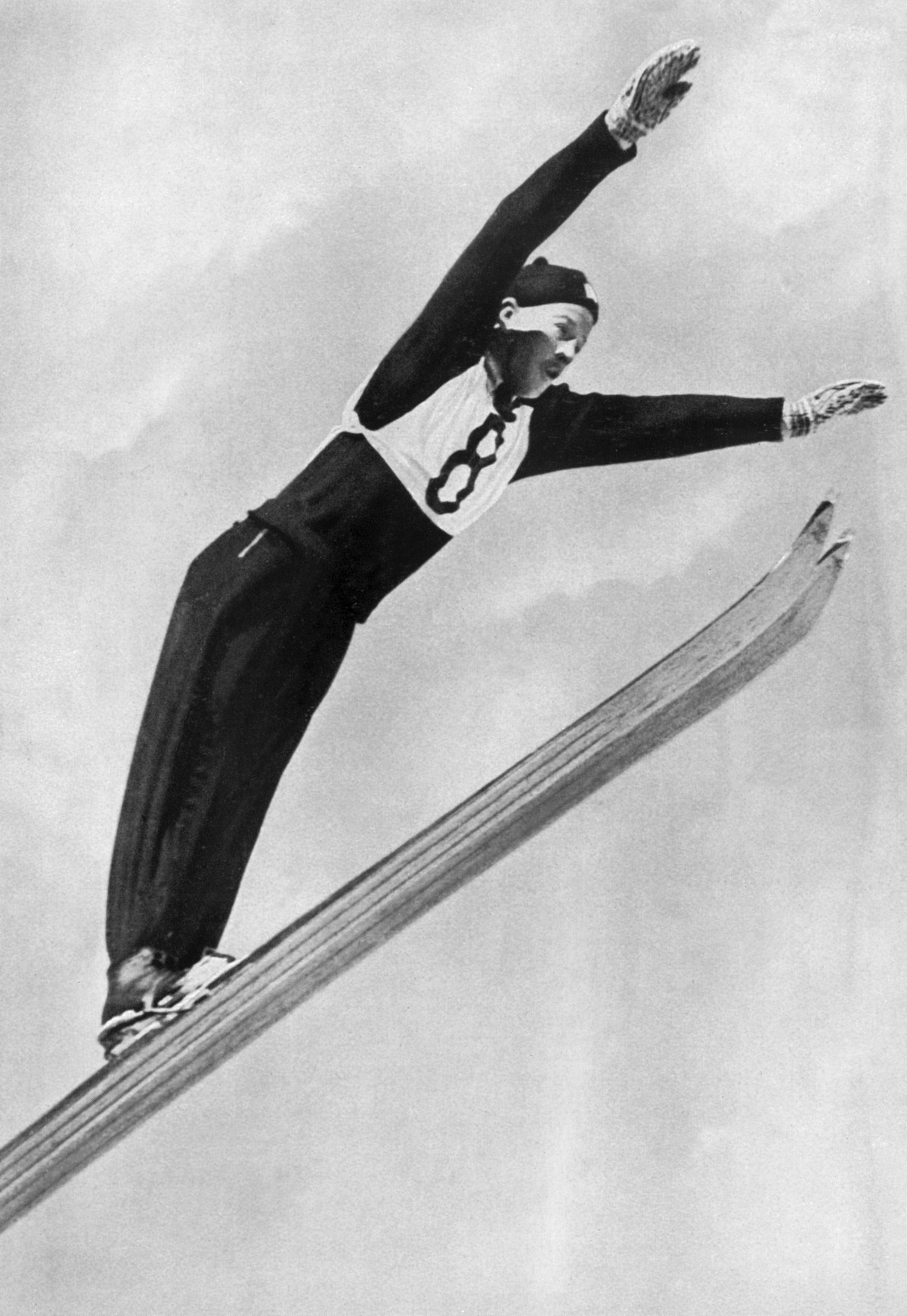1936 Winter Olympic Games Garmisch - Partenkirchen, Germany Birger Ruud, Norway who won the gold medal for the K90 indi