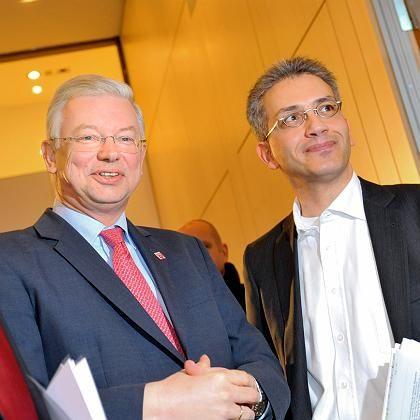 Koch (li.) und Al-Wazir: Die Grünen wittern ihre Chance