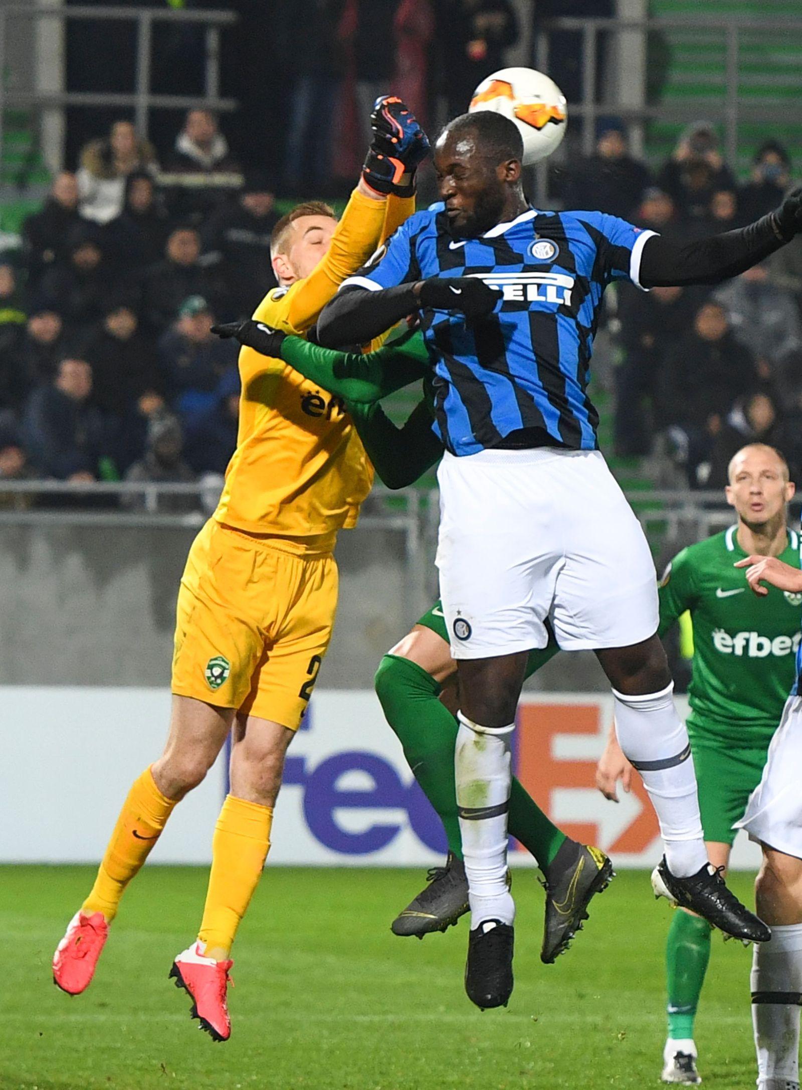 PFC Ludogorets Razgrad vs Inter Milan, Bulgaria - 20 Feb 2020