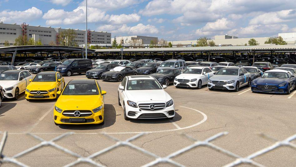 Mercedes-Neuwagen in Sindelfingen