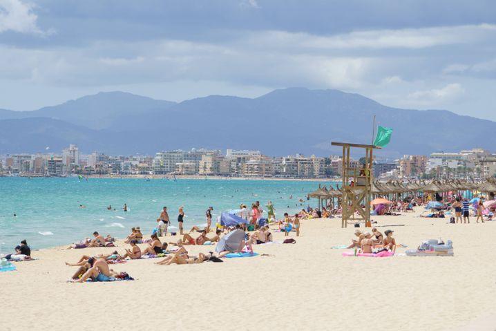 Mallorca-Strand im zweiten Coronasommer