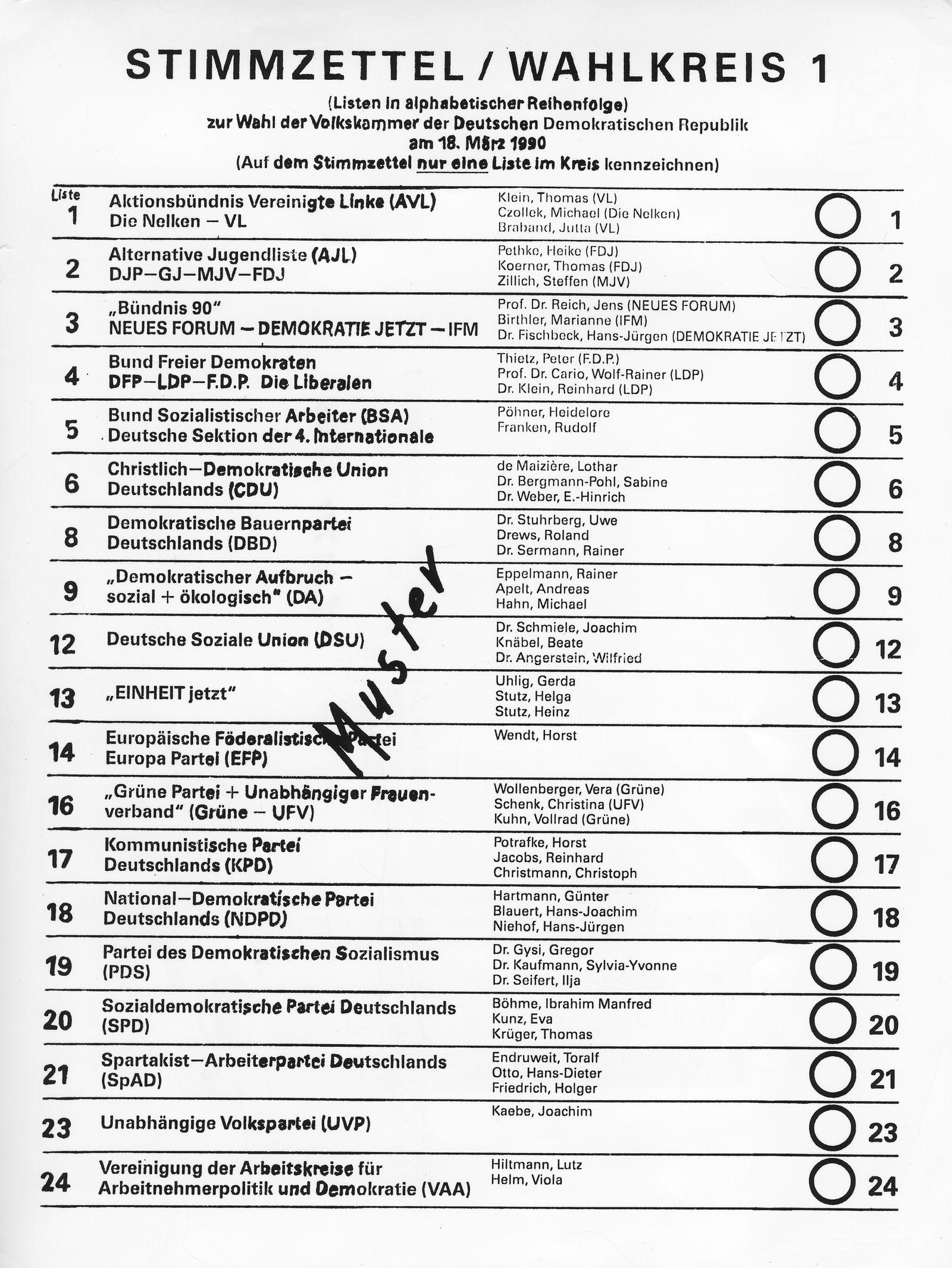 Volkskammerwahl 1990