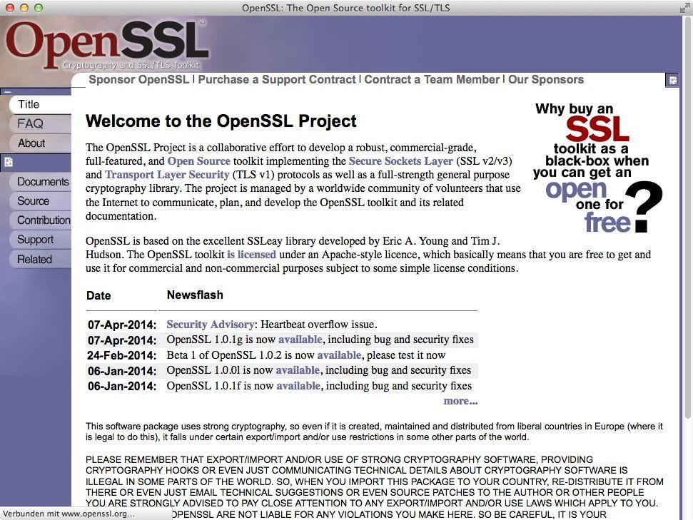 NUR ALS ZITAT Screenshot OpenSSL