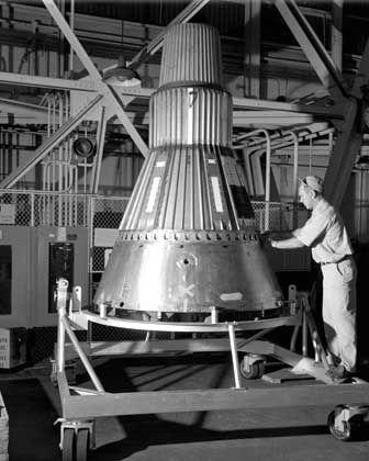 """""""Mercury""""-Kapsel (Foto vom März 1959): Zukunftsweisendes Design"""