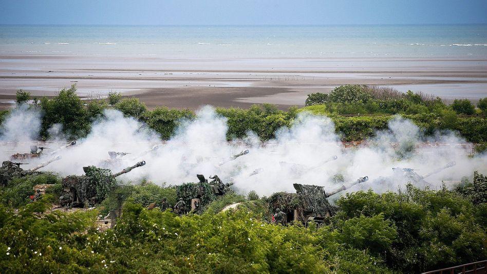Militärübung an der Westküste Taiwans:Bedingt abwehrbereit