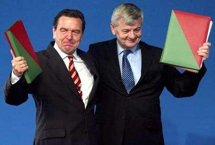 """Schröder und Fischer, 2002: """"Politisch gescheitert"""""""