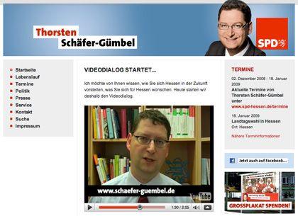 """Internet-Seite von Schäfer-Gümbel: """"Ich will sagen, dass wir einen großen Fehler gemacht haben"""""""