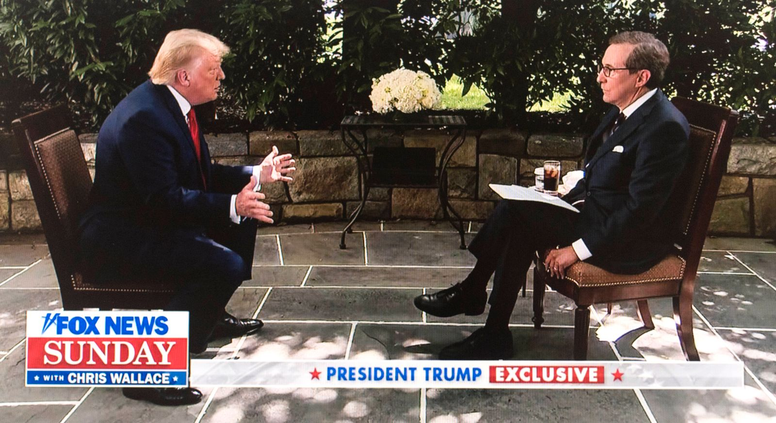 July 19, 2020 - Washington, District of Columbia, U.S. - A video capture of President DONALD TRUMP being interviewed by