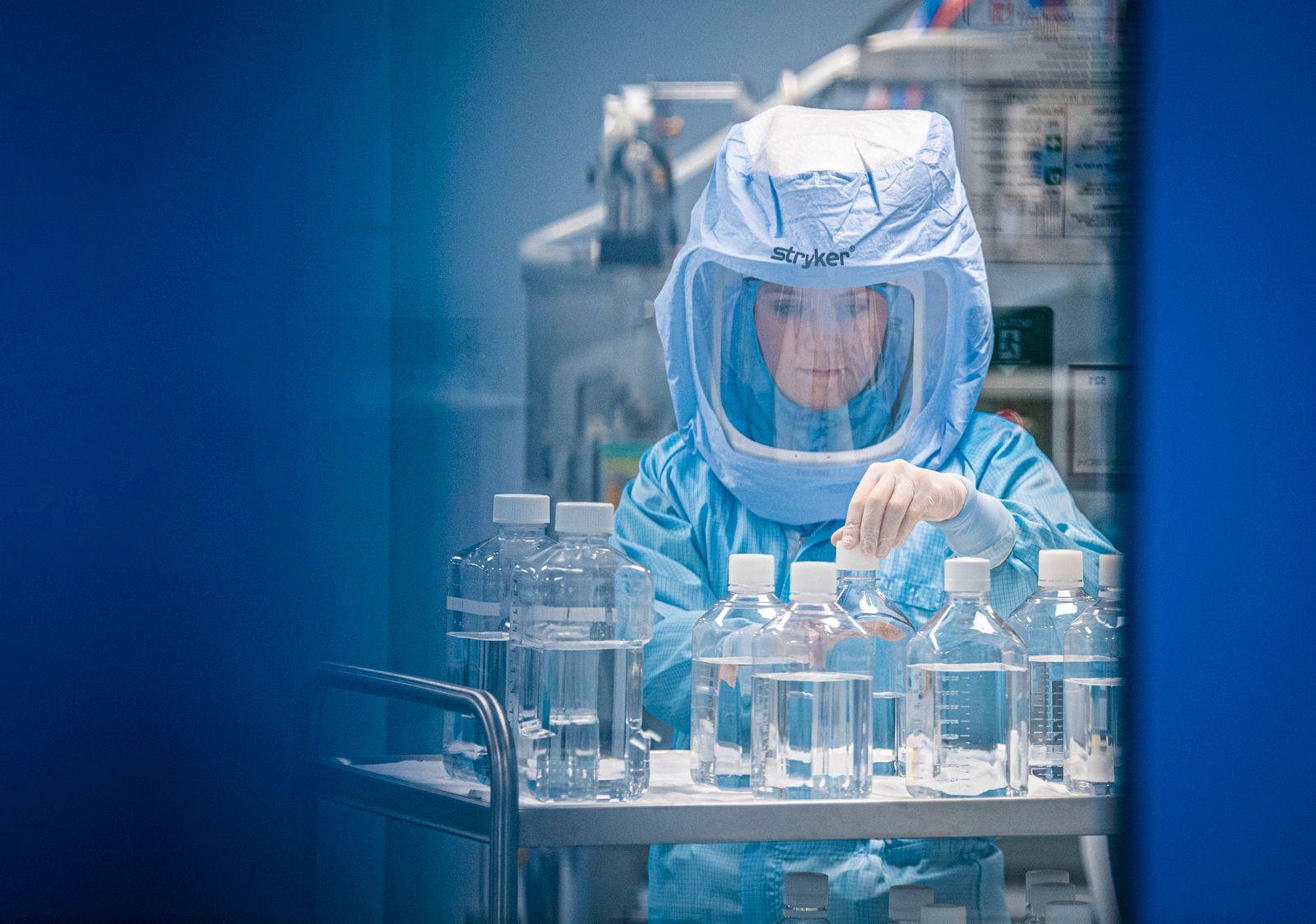 Biontech Marburg - Herstellung des Corona-Impfstoffes