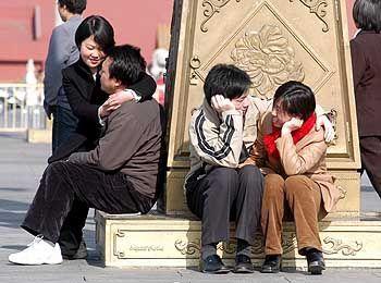 Junge Paare (in Peking): Obrigkeit gängelt Liebesleben