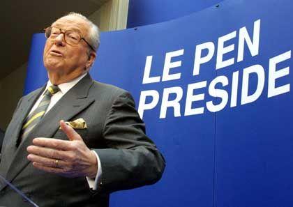 Nur im zweiten Anlauf zu kritisieren getraut: Jean-Marie Le Pen