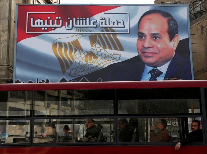 Wahlplakat für Abdel Fattah el-Sisi