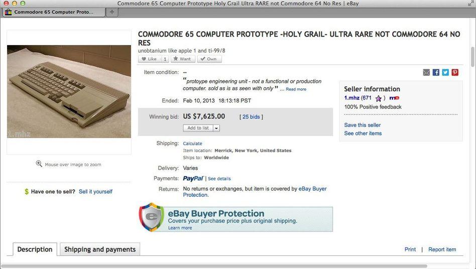 Commodore 65: Sammlern sind die verbliebenen Exemplaren hohe Summen wert