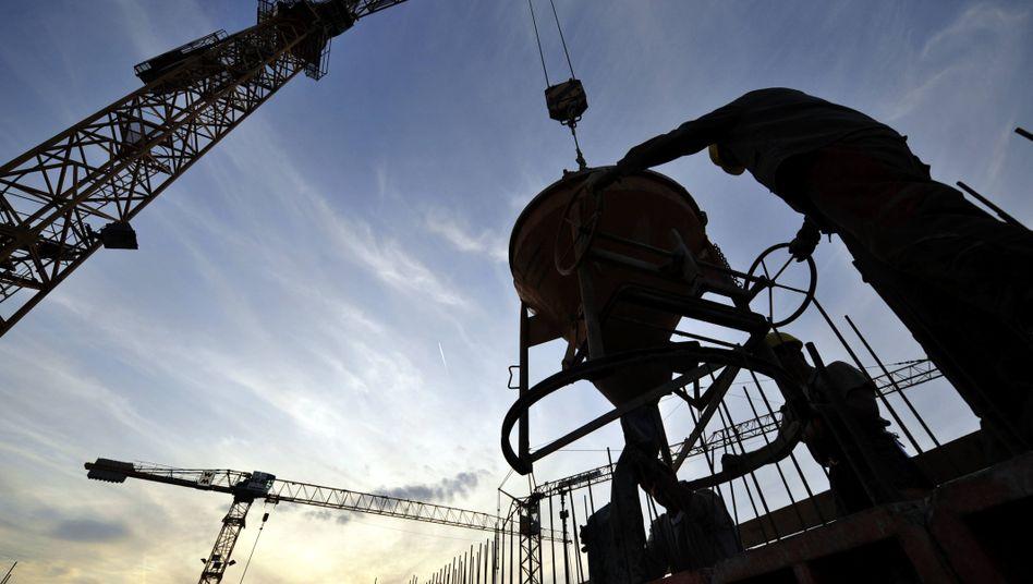 Baustelle in Frankfurt am Main: Zuversicht für die deutsche Konjunktur trübt sich ein