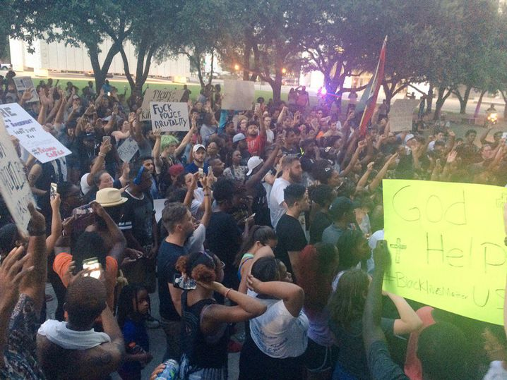 Demonstration in Dallas