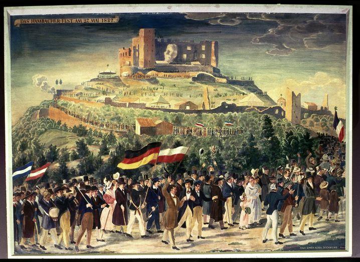 Historische Darstellung des Hambacher Fests