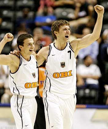Hoffen auf Basketball-Boom: Mithat Demirel (l.) und Marko Pesic