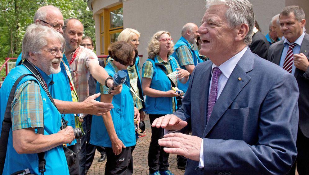 Gauck-Besuch: Tumulte in Sebnitz