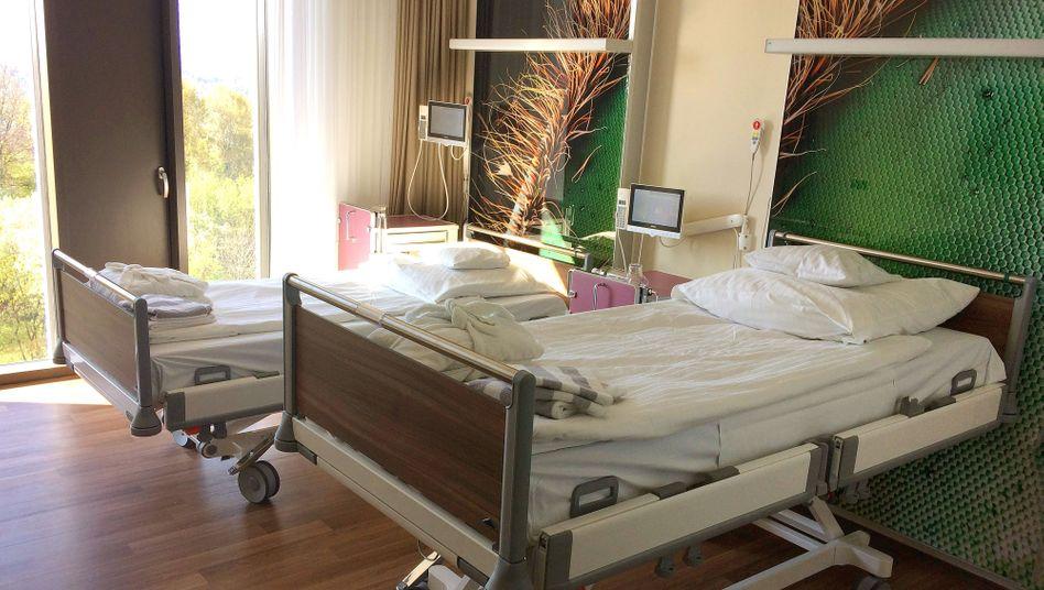 Zweibettzimmer in einer Privatklinik