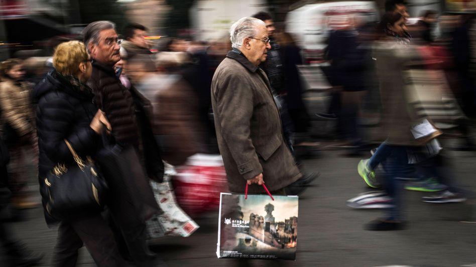 Einkäufer in Barcelona