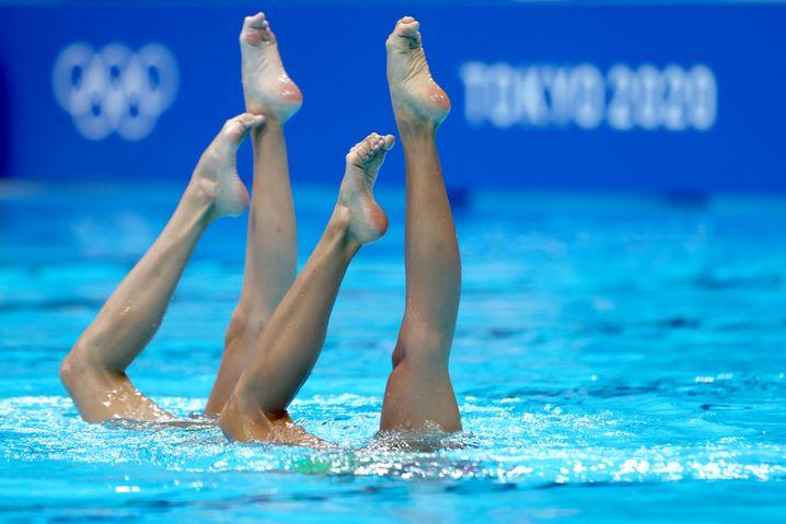 Synchronschwimmerinnen in Tokio