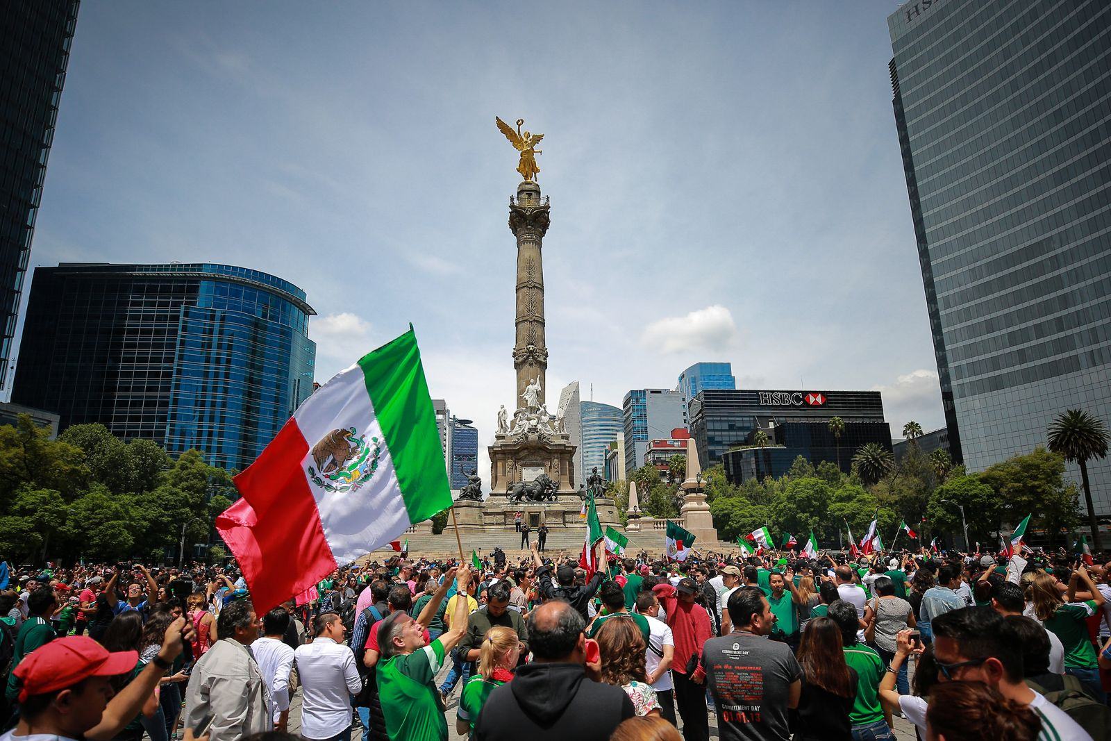 Mexico Fans Celebrate Victory Over Germany