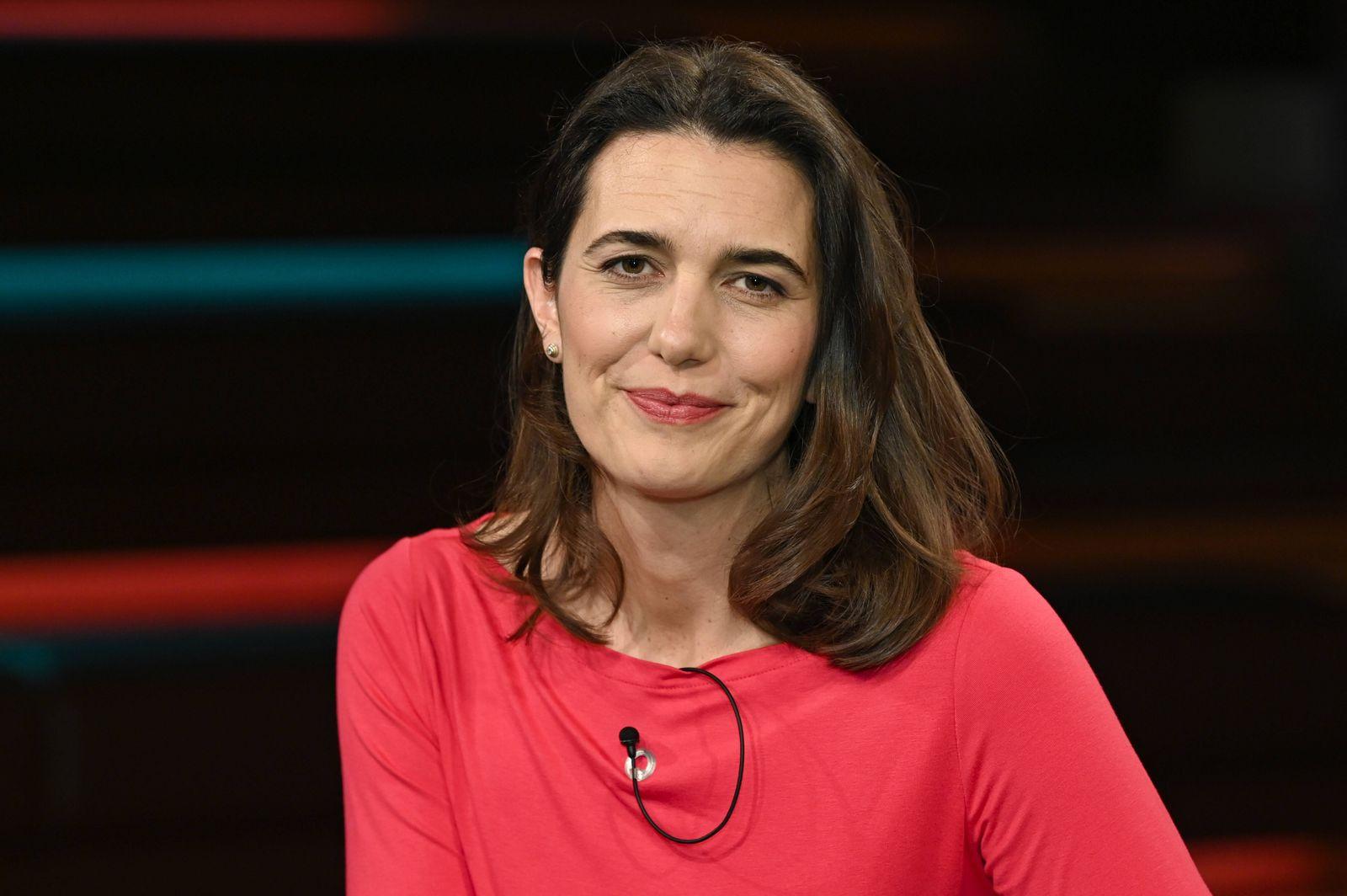 Prof. Melanie Brinkmann (Virologin) 03/20 her Prof. Melanie Brinkmann am 25. März 2020 in Markus Lanz , ZDF TV Fernsehen
