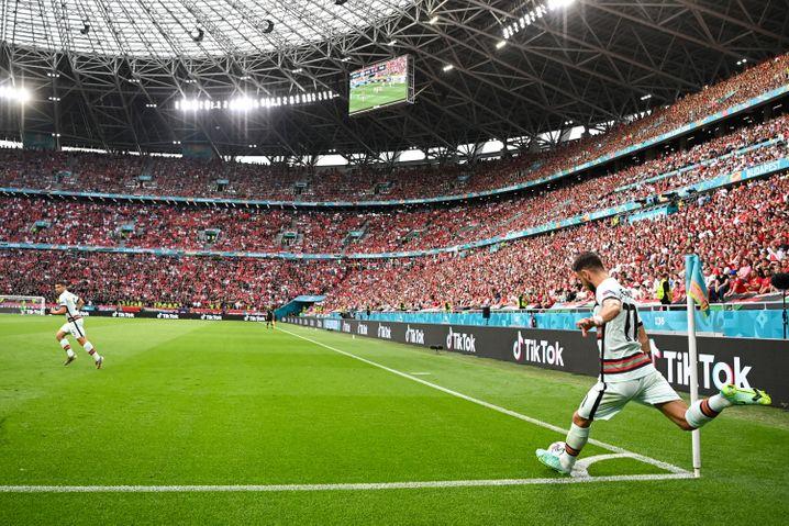 EM-Spiel Ungarn gegen Portugal: Das Stadion in Budapest war voll besetzt