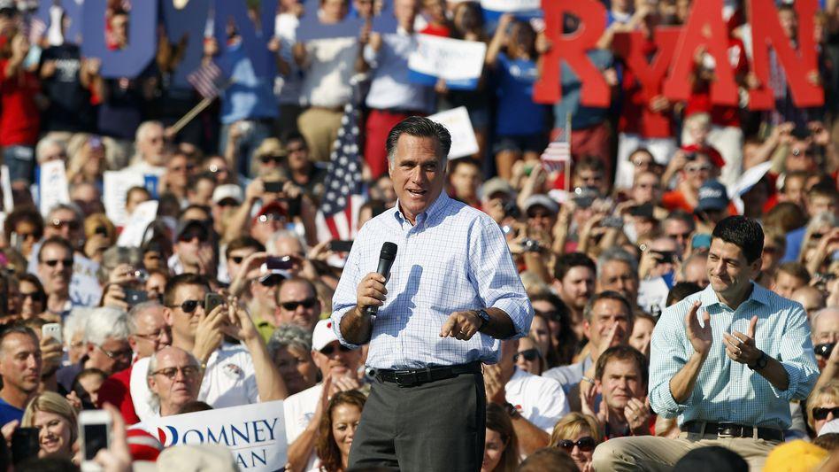 Der Republikaner Mitt Romney: Mühe, schwarze Wähler und Frauen zu gewinnen.