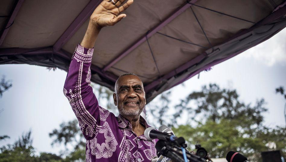 Oppositionspolitiker Seif Sharif Hamad bei einer früheren Rede auf Sansibar