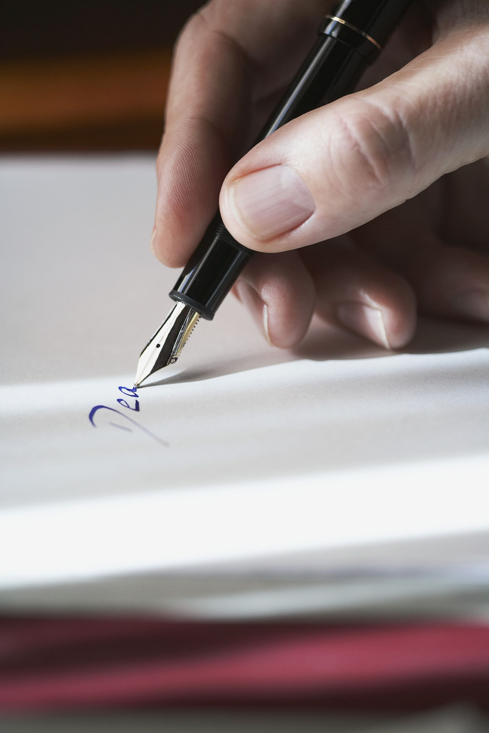 NICHT MEHR VERWENDEN! - EINMALIGE VERWENDUNG KaSP Brief Handschrift Füllfederhalter SYMBOLBILD