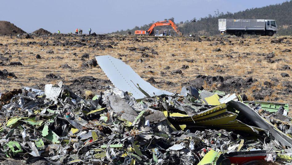 Trümmer der Boeing 737 Max 8