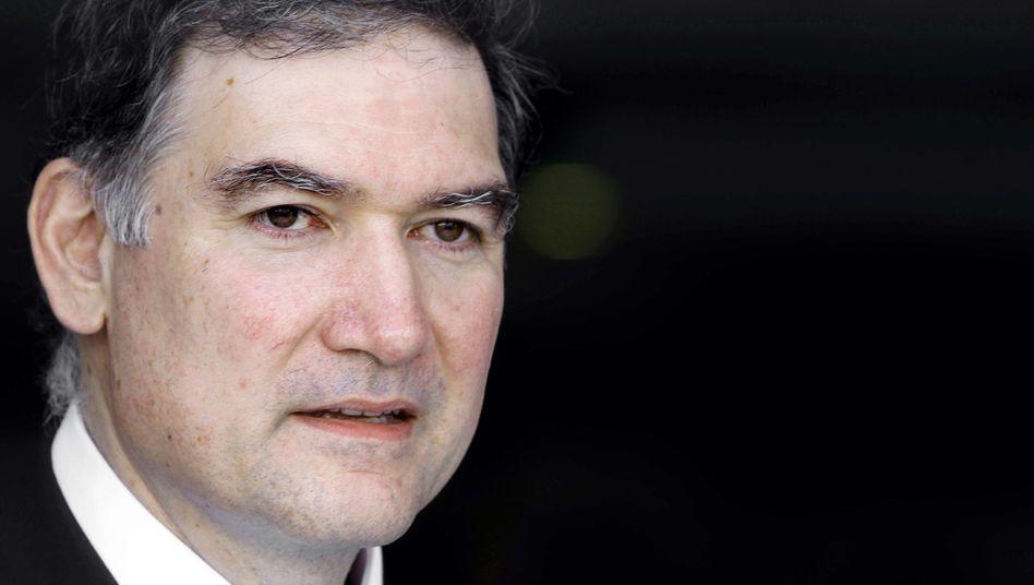 Greece's new statistics agency chief Andreas Georgiou. (AP Photo/Petros Giannakouris)